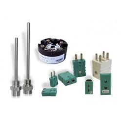 Accessoires  capteurs de température Pt 100 et thermocouples